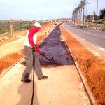 עבודות פיתוח אספלט בחוף אשקלון